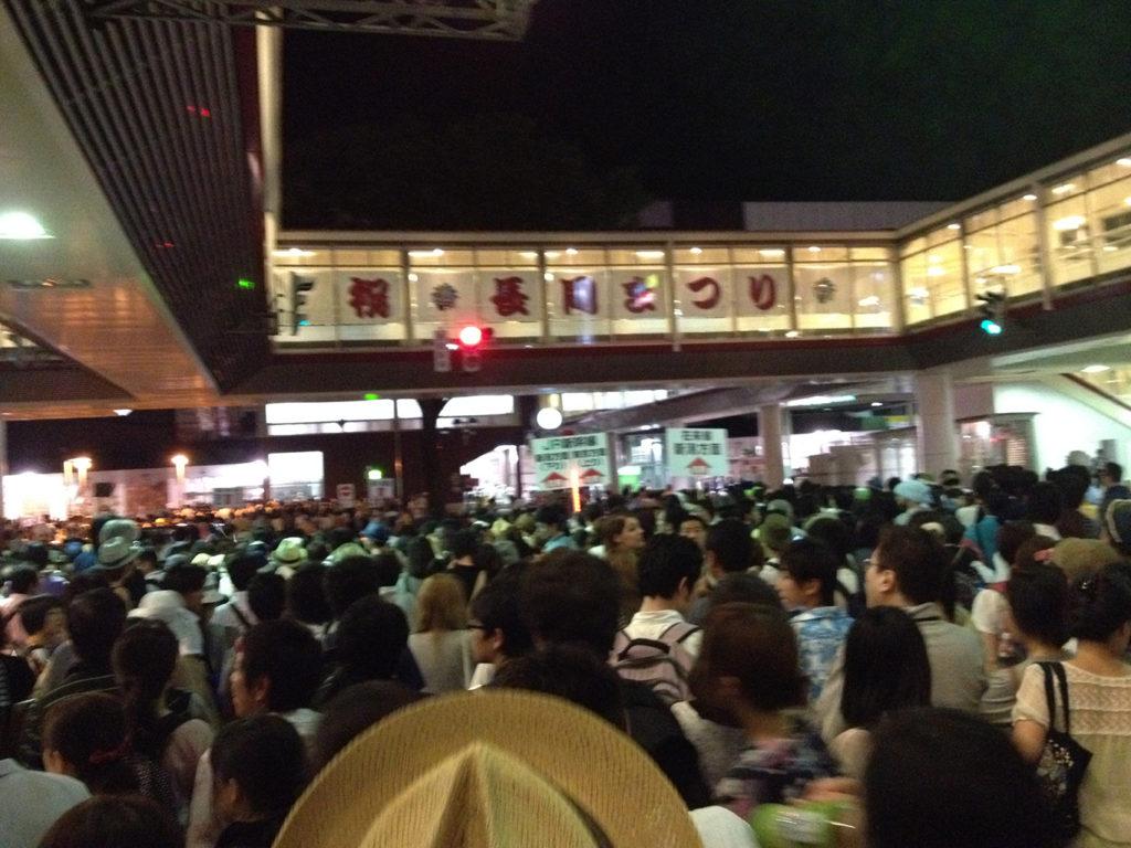 帰りの長岡駅前の様子(土曜・日曜開催だった2014年)