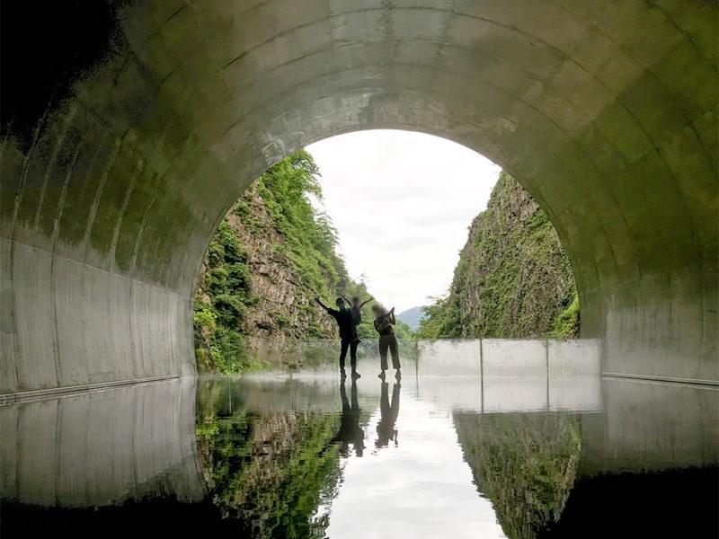 清津峡渓谷トンネルの一番奥にある「パノラマステーション」というスポット