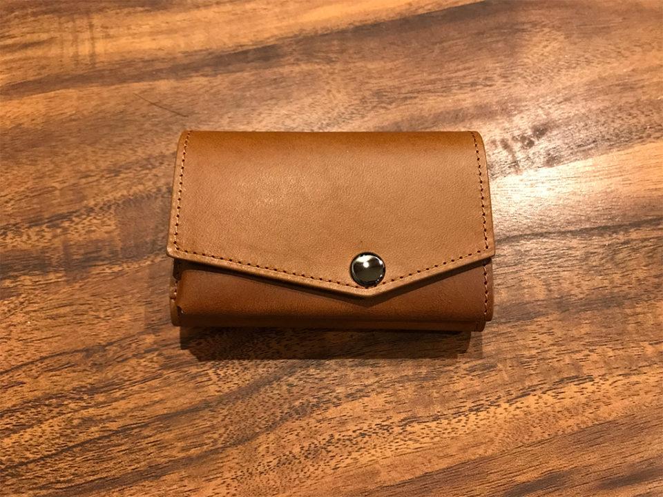 小さい財布 abrAsus(アブラサス)最上級ブッテーロ レザー エディション キャメル色